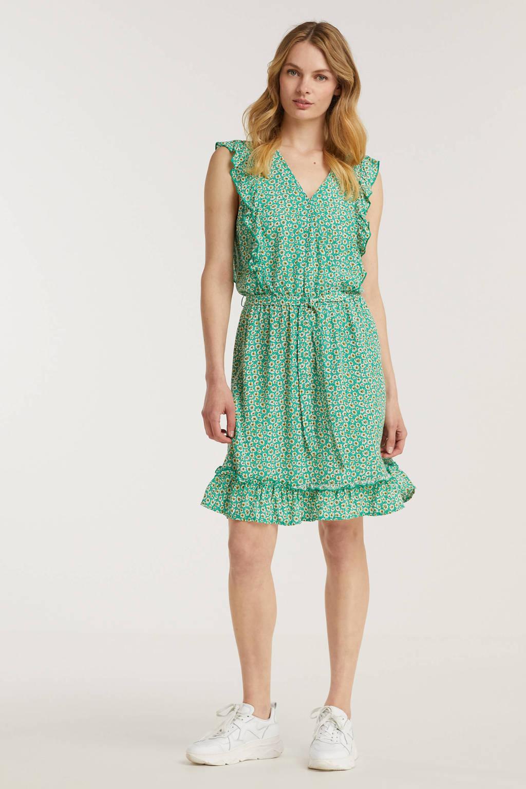 Esqualo gebloemde jurk groen, Groen