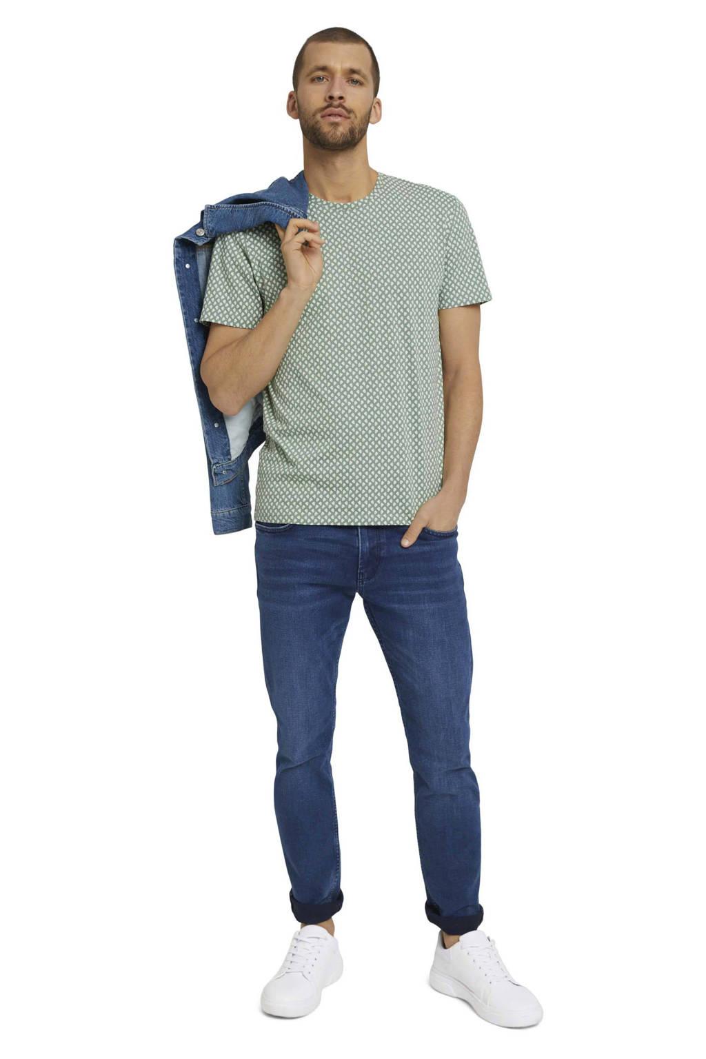 Tom Tailor T-shirt met all over print lichtgroen, Lichtgroen
