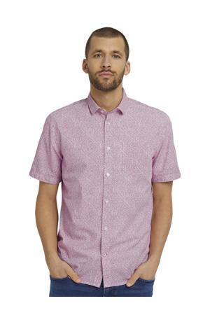 regular fit overhemd met all over print rood