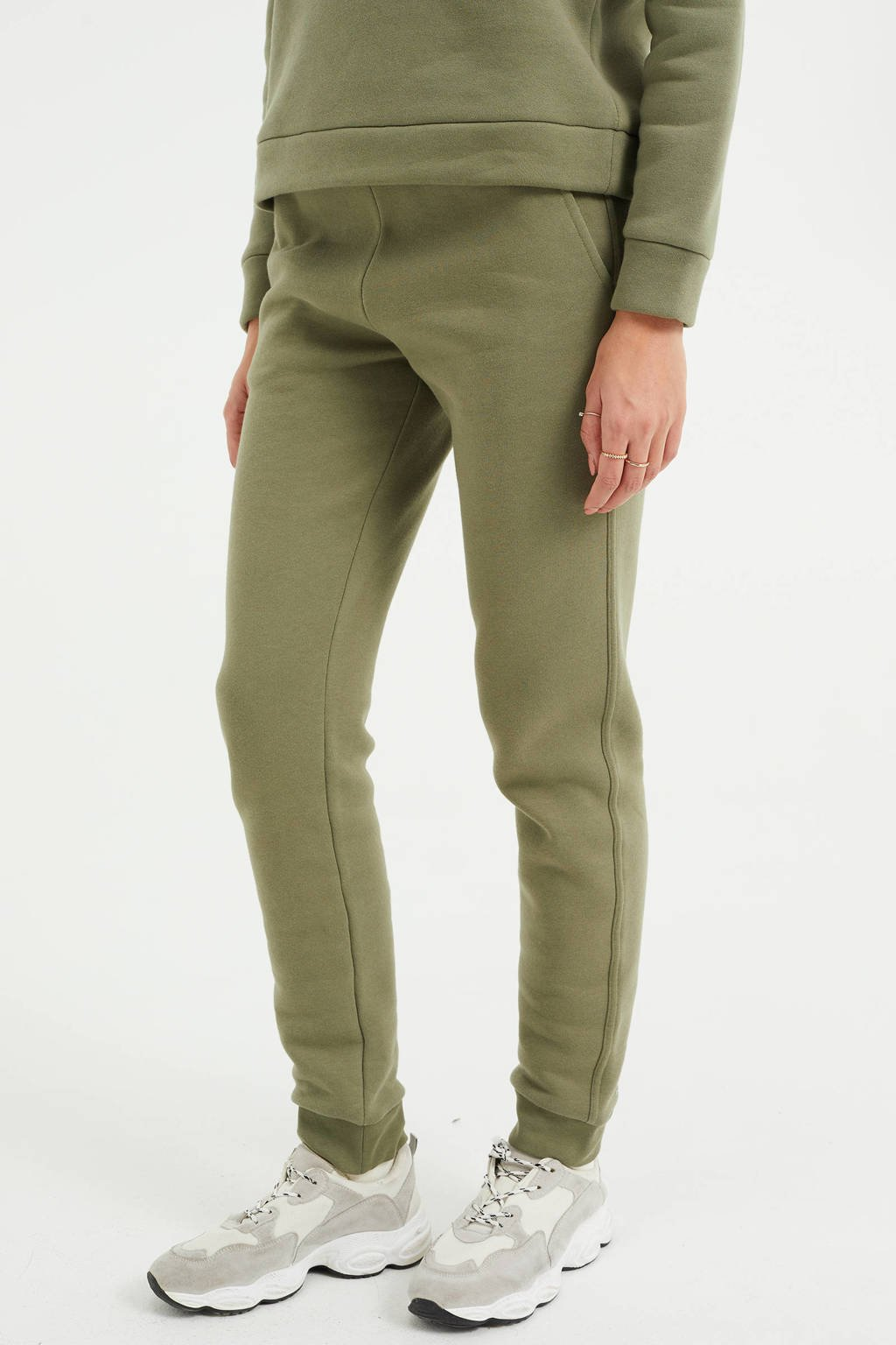 WE Fashion regular fit joggingbroek groen, Groen