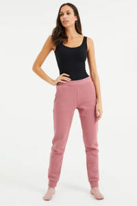 WE Fashion tapered fit broek oudroze, Oudroze