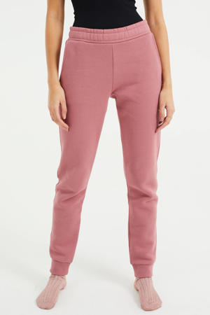 tapered fit broek oudroze
