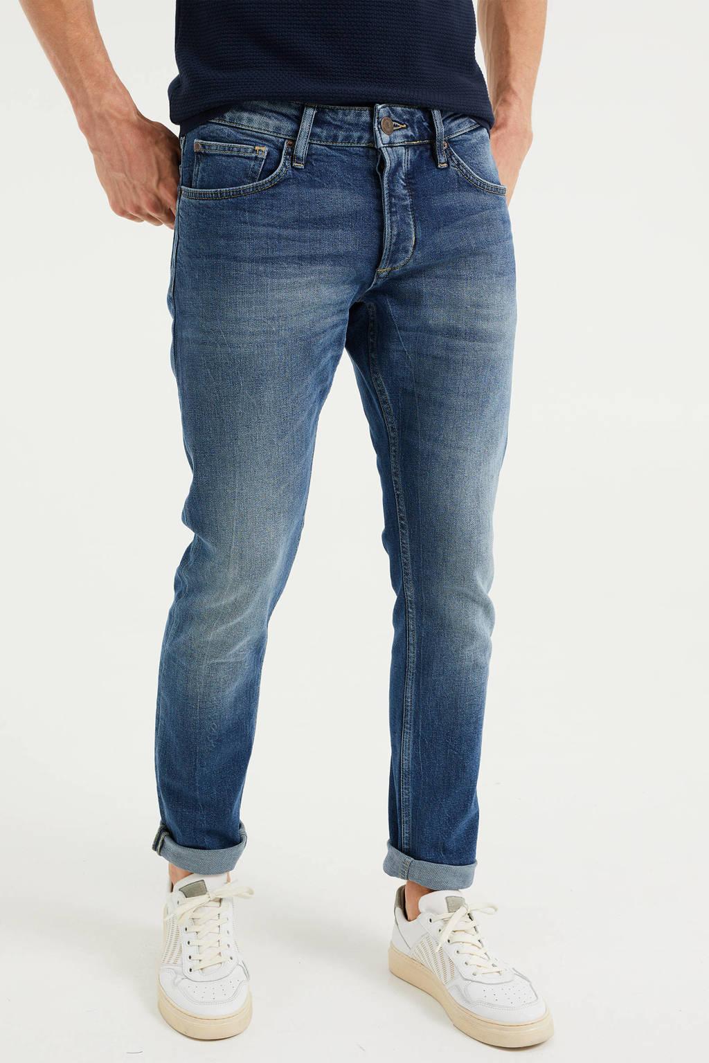 WE Fashion Blue Ridge slim fit jeans mid blue, Mid blue