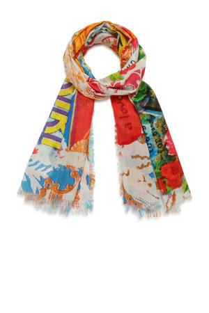 sjaal met all-over print multi