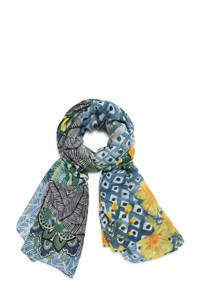 Desigual sjaal blauw/groen, Blauw/groen
