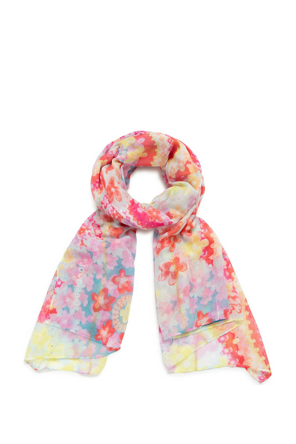 Desigual sjaal lila/roze, Lila/roze