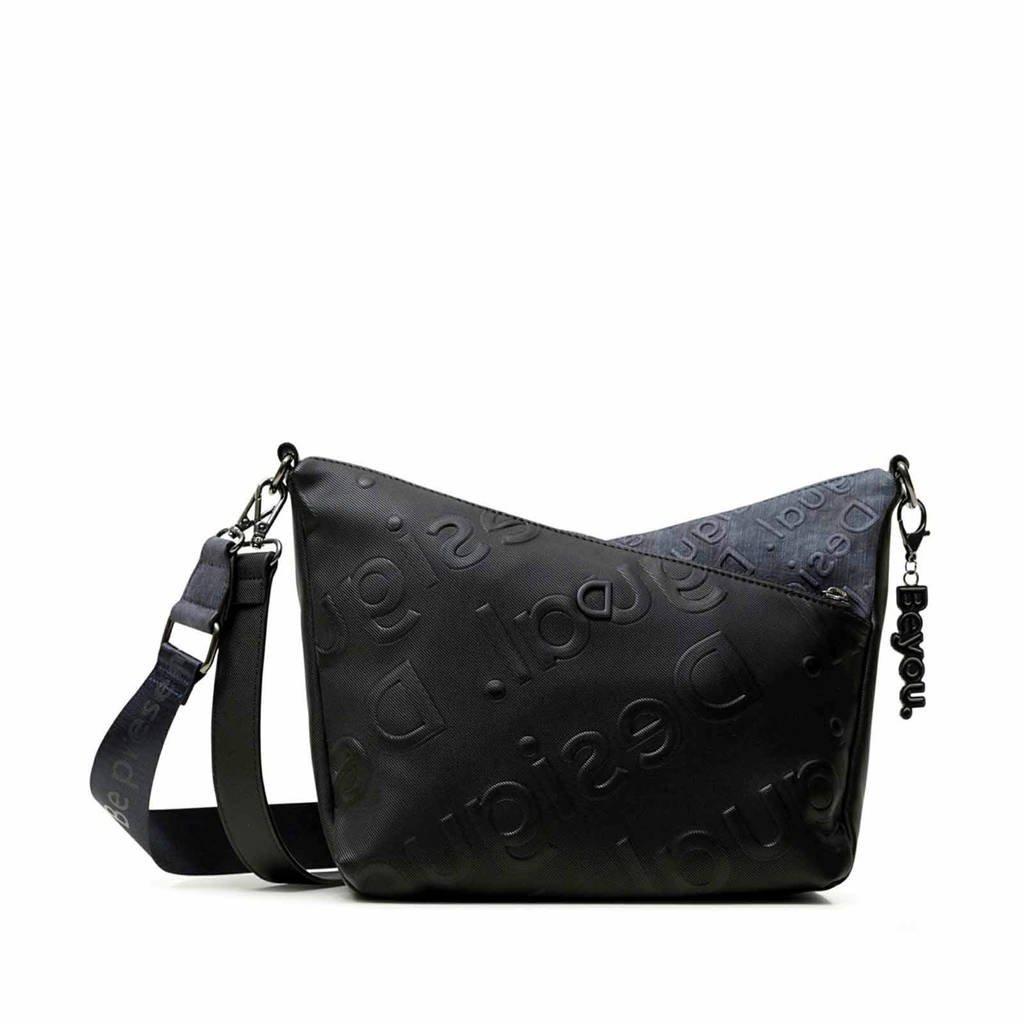 Desigual  crossbody tas zwart/denimblauw, Zwart/denimblauw