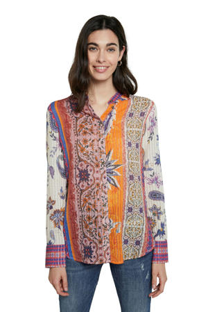 blouse met all over print multicolor