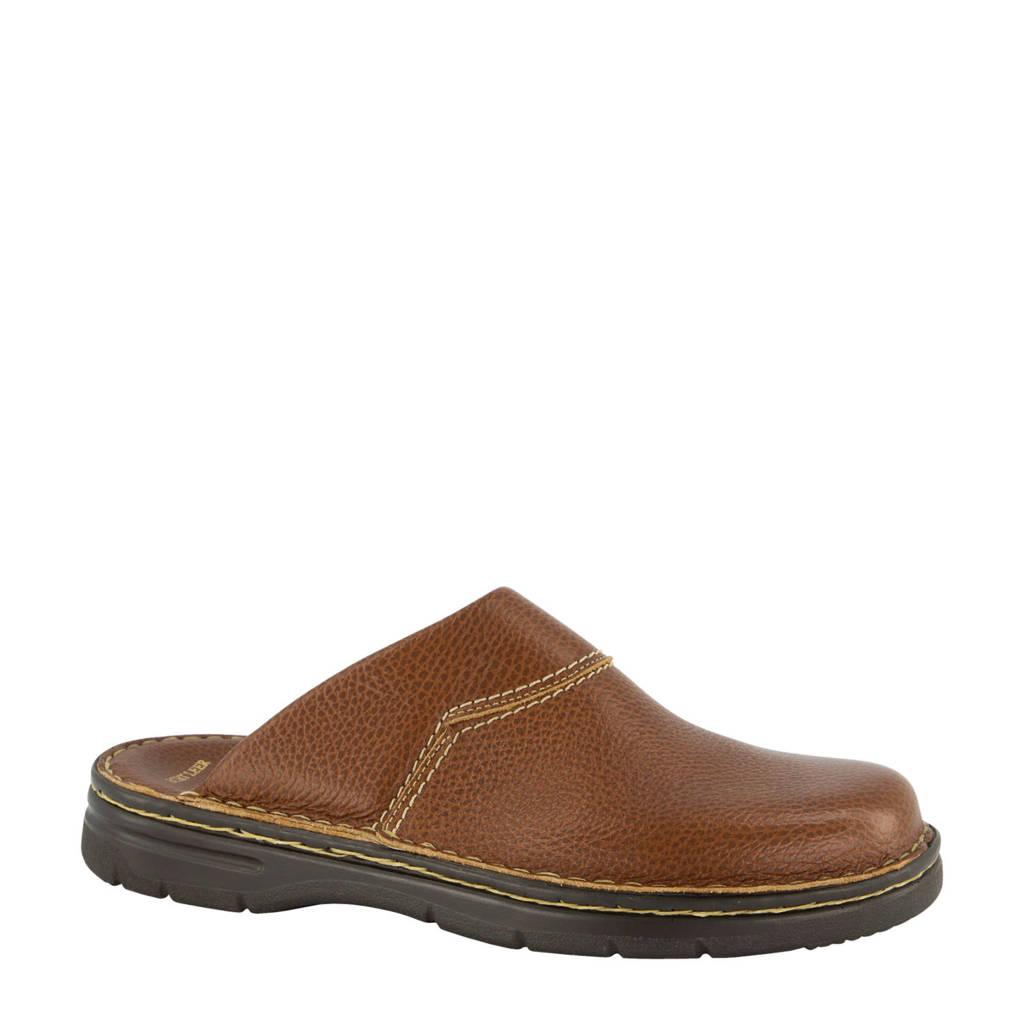 Easy Street leren pantoffels bruin, Bruin