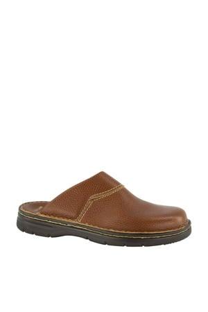 leren pantoffels bruin