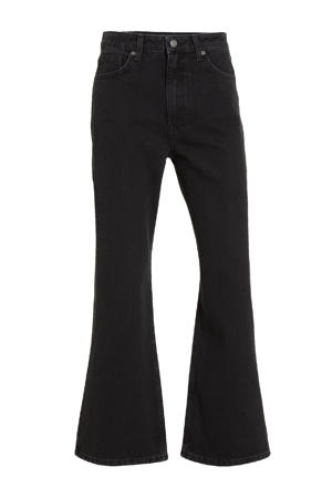 cropped high waist regular fit jeans zwart