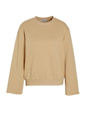 sweater beige met wijde mouw