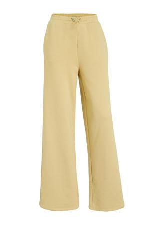 high waist loose fit joggingbroek beige