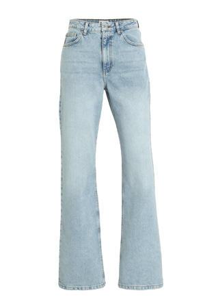 high waist straight fit jeans lichtblauw