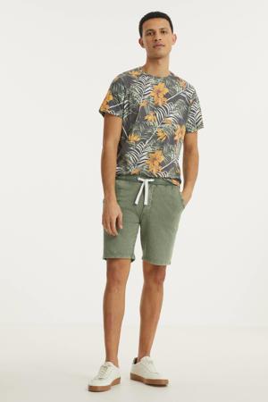 gebloemd T-shirt RRRaul groen