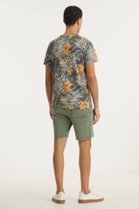 Redefined Rebel gebloemd T-shirt RRRaul groen, Groen