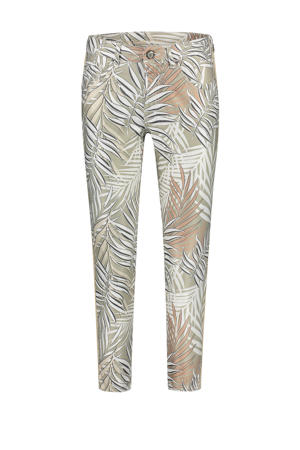 skinny broek Nikita  met all over print lichtgroen
