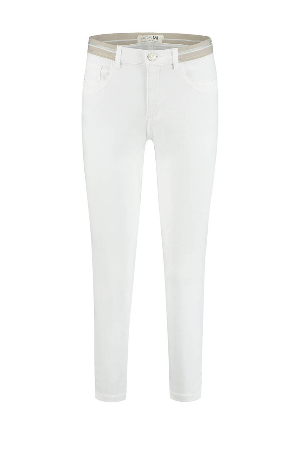 Para Mi slim fit capri Capri (Elastic) / Color Denim 002 - white, 002 - White