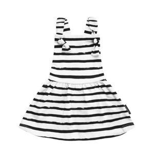 gestreepte jurk wit/blauw