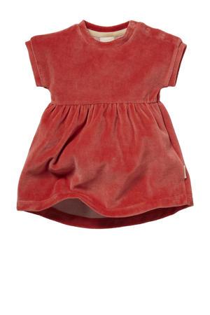 newborn baby fluwelen jurk Nancy rozerood