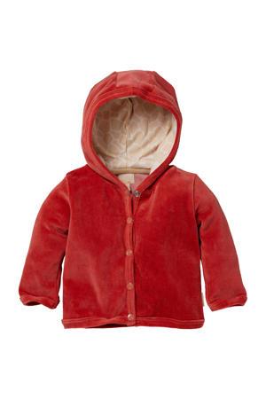 newborn baby fluwelen vest Nevi rozerood