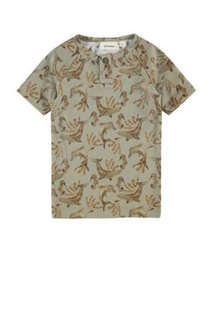 T-shirt Geo met biologisch katoen groen