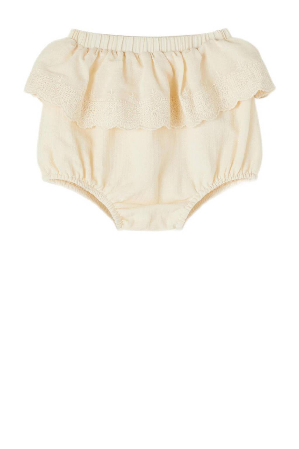 LIL' ATELIER BABY baby short Solange van biologisch katoen creme, Creme