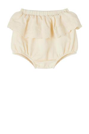 baby short Solange van biologisch katoen creme