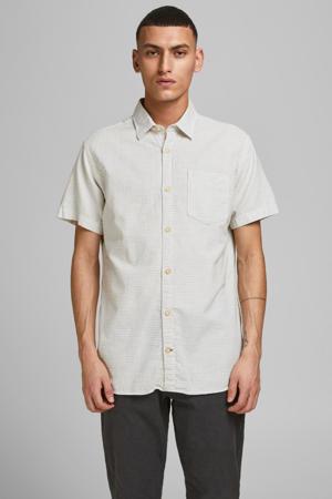 regular fit overhemd Abel met all over print ecru