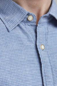 JACK & JONES ORIGINALS regular fit overhemd Abel met all over print lichtblauw, Lichtblauw