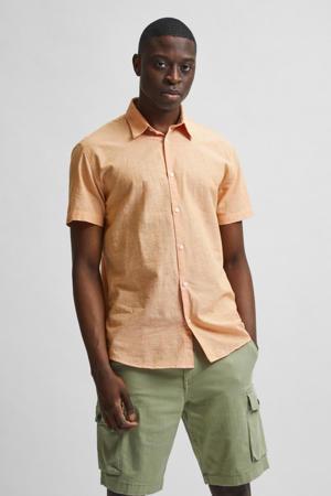 regular fit overhemd SLHREGNEW zalm