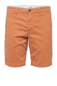 SELECTED HOMME regular fit chino short Chester Flex oranje, Oranje
