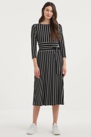 gestreepte jurk zwart/wit