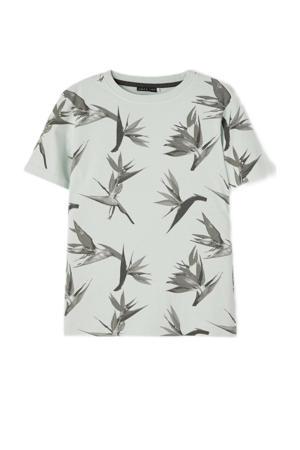 T-shirt Hippi van biologisch katoen lichtgroen