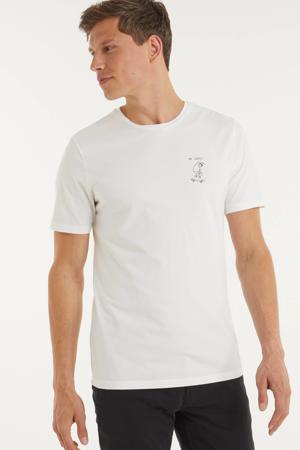 T-shirt Jaames ok cool van biologisch katoen wit