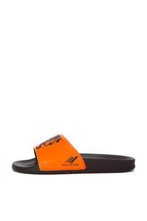 De Luxe New EK Nederland badslippers oranje/zwart