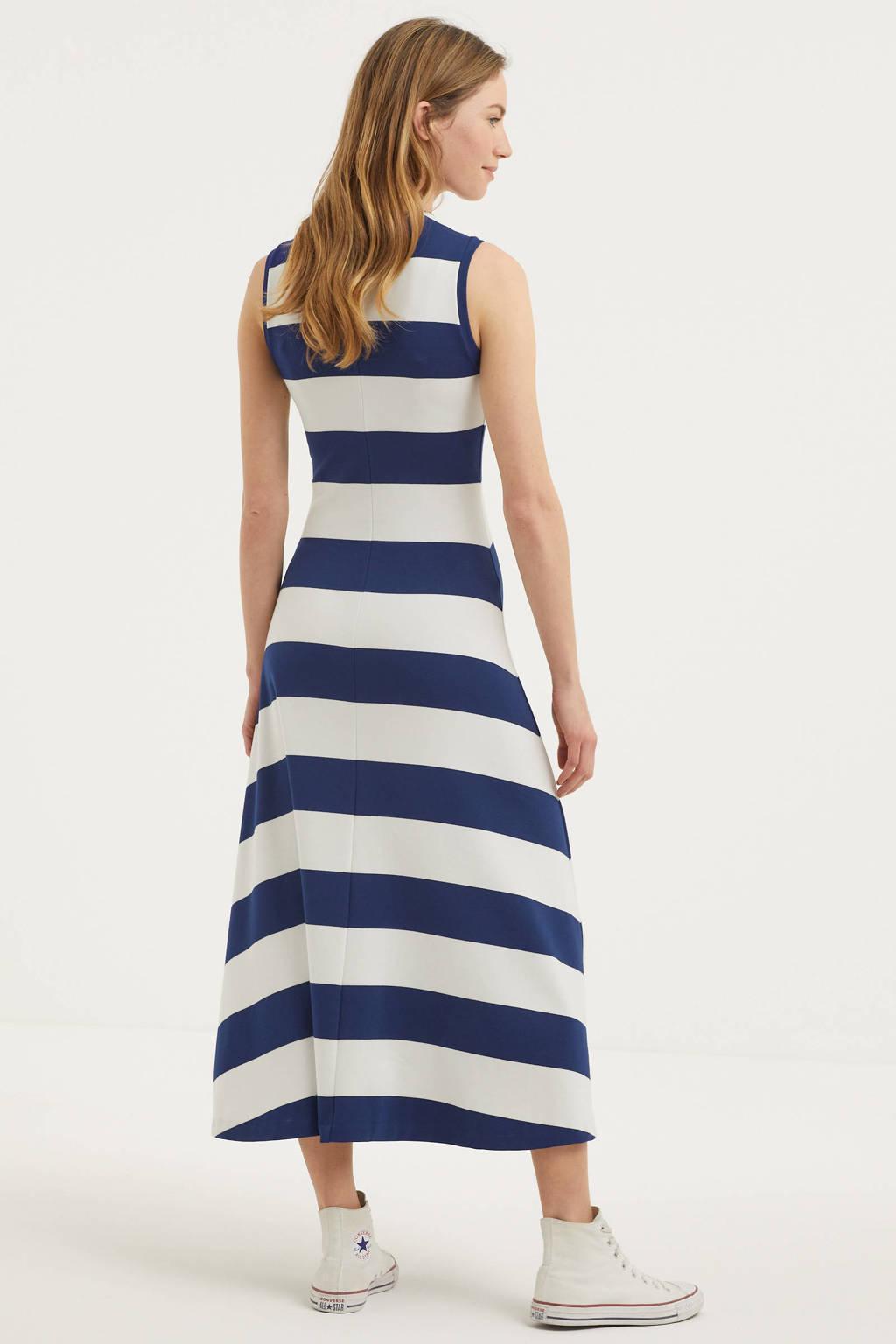 POLO Ralph Lauren gestreepte maxi jurk blauw/wit, Blauw/wit