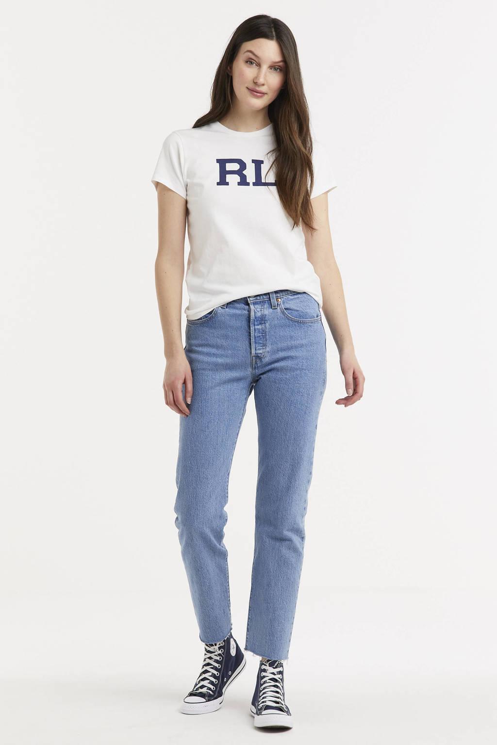 POLO Ralph Lauren T-shirt met tekst wit, Wit