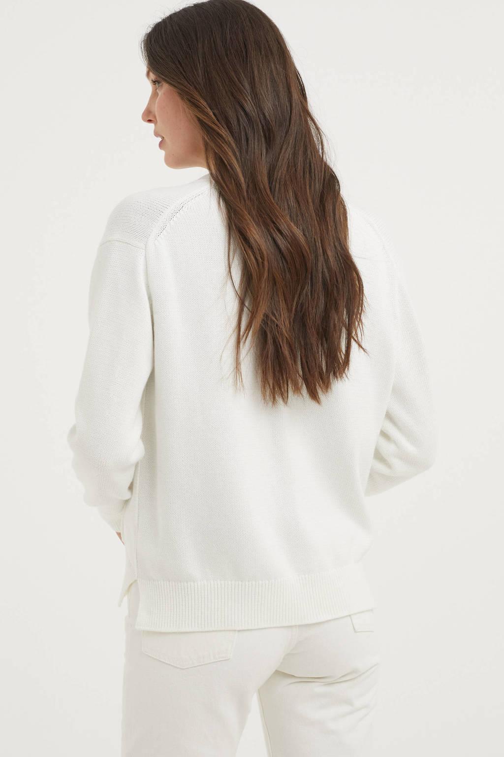 POLO Ralph Lauren fijngebreid vest wit, Wit