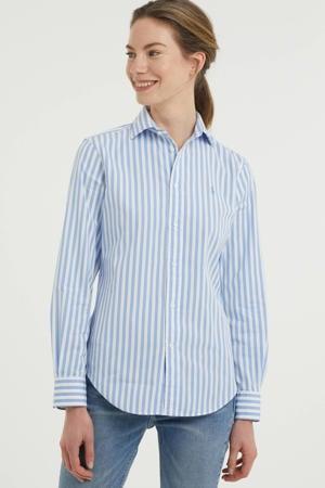 gestreepte blouse lichtblauw