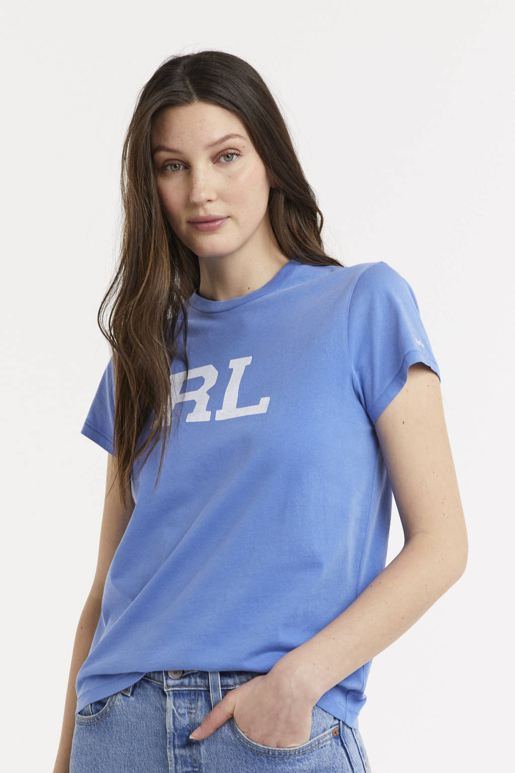 POLO Ralph Lauren T-shirt met tekst blauw, Blauw