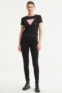 GUESS T-shirt met logo zwart, Zwart