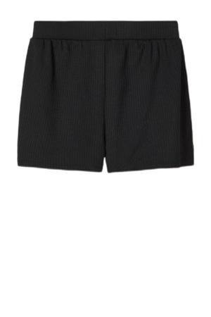 regular fit short NLFNUNNE met textuur zwart