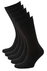 anytime sokken - set van 5 zwart, Zwart
