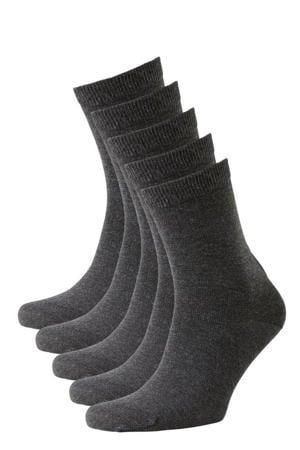 sokken - set van 5 antraciet