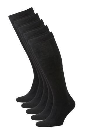 kniekousen - set van 5 zwart