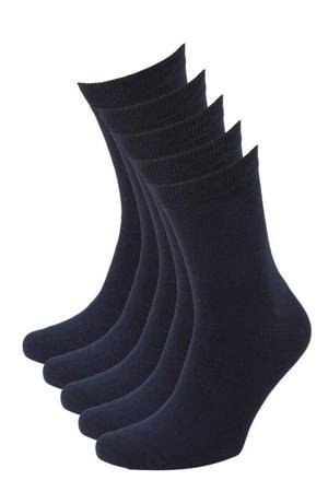 sokken - set van 5 donkerblauw