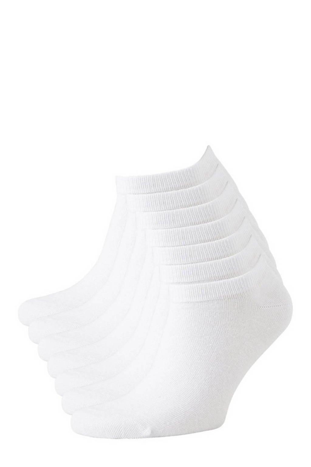 anytime sneakersokken - set van 7 wit, Wit