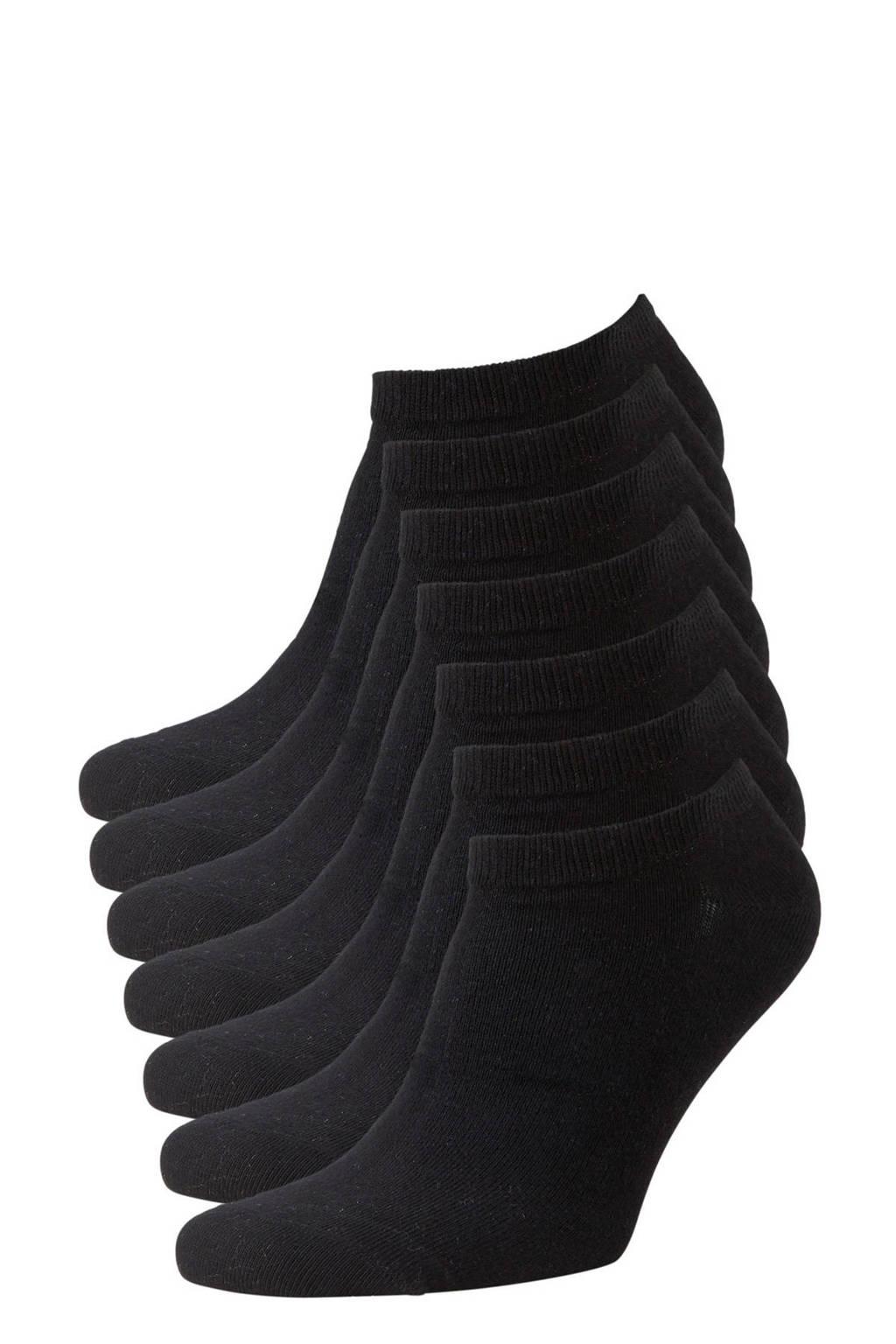 anytime sneakersokken - set van 7 zwart, Zwart