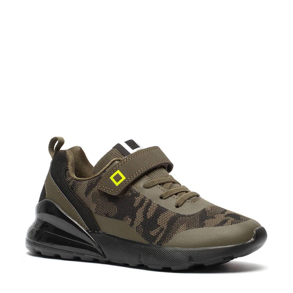 Scapino Blue Box   sneakers met camouflageprint groen, Groen/zwart